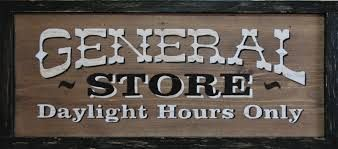 wild west general store sign - Google Search