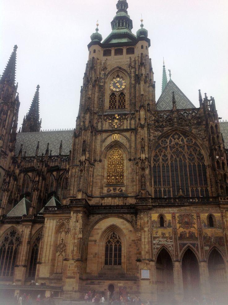 Architecture church st vitus chatedral, Prague castle, Czech Republic