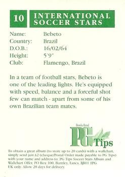 1998 Brooke Bond PG Tips International Soccer Stars #10 Bebeto Back