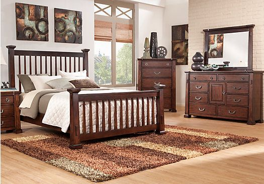 Clairfield  5 Pc Queen Slat Bedroom at Rooms To Go.