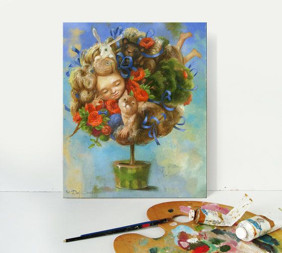 Tree art print giclee art painting oil tree of life by ArtFable