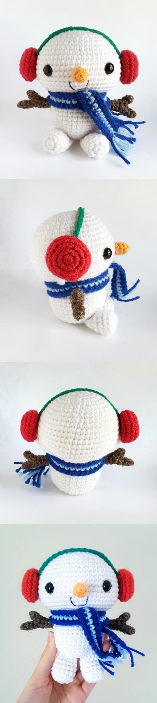 Snuggly Snowman amigurumi pattern