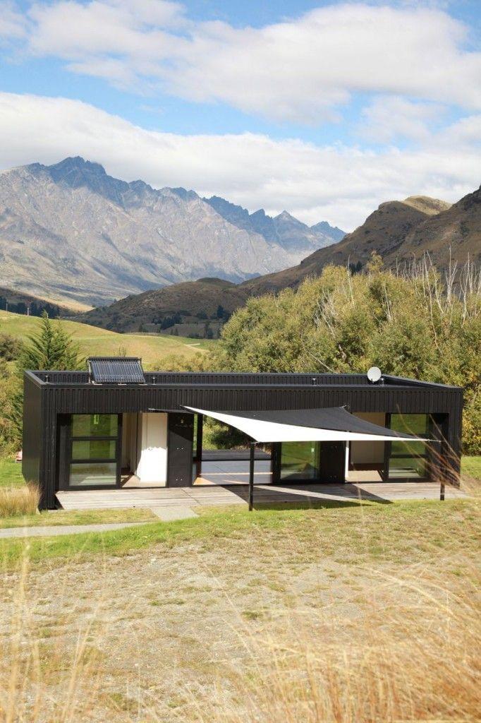 Steel frame transportable prefab home, New Zealand