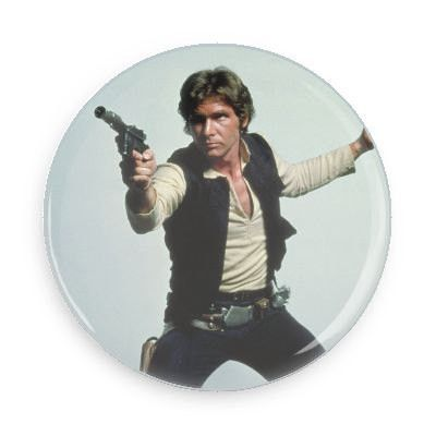 Han Solo Pin Back Button