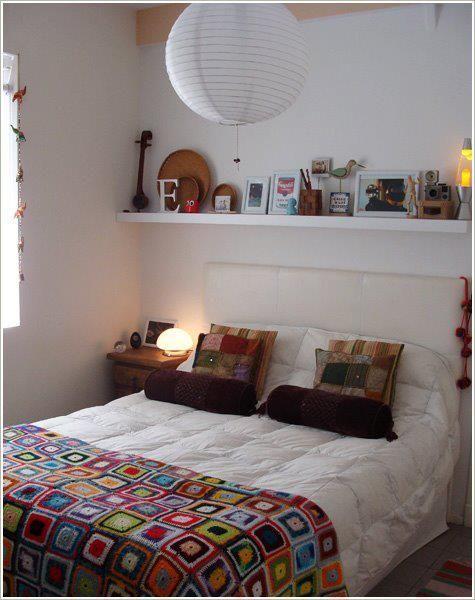 Decoração quarto casal romântico coloridoDecoração quarto casal romântico colorido