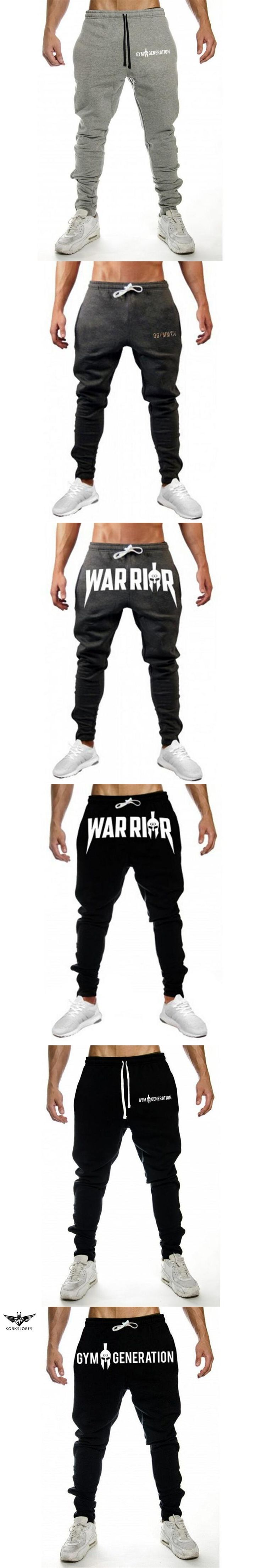 KORKSLORES Autumn New Mens Fitness Sweatpants Pant Male Bodybuilding Workout Casual Elastic Cotton Brand Trousers Joggers Pants