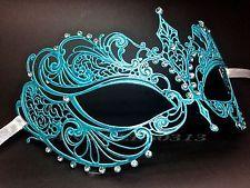 Carnival L/BLUE Metal Laser Cut With Rhinestone Princess Masquerade Mask