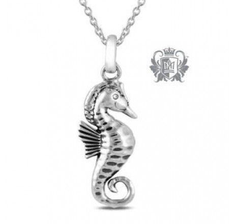 Large Sea Horse Cubic Pendant | Metalsmiths Sterling™