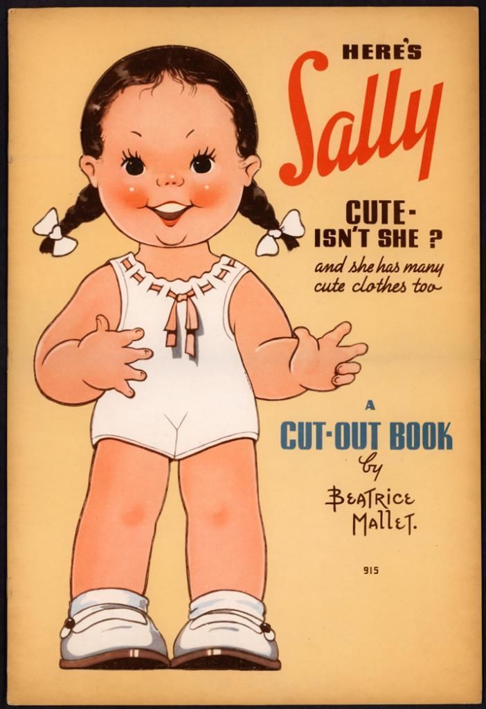 """Uncut """"Here's Sally"""" 915 Whitman 1939 by Beatrice Mallet 2677 
