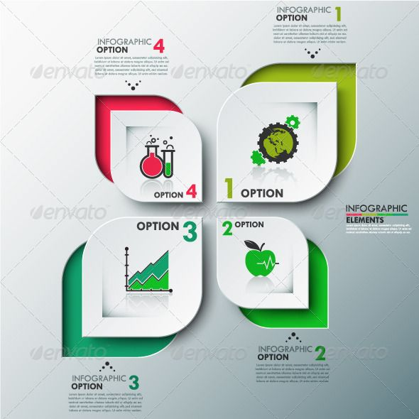 Eco Modern Infographic Options Banner — Photoshop PSD #business #information • Available here → https://graphicriver.net/item/eco-modern-infographic-options-banner/8535405?ref=pxcr