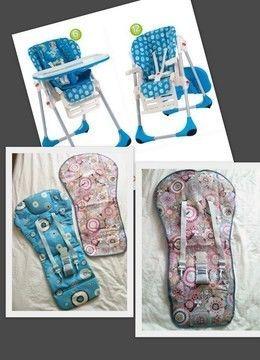 Housse chaise haute Chicco Polly 2 in 1 (+ Babymoov & Graco) - Patrons et tutoriels de couture chez Makerist