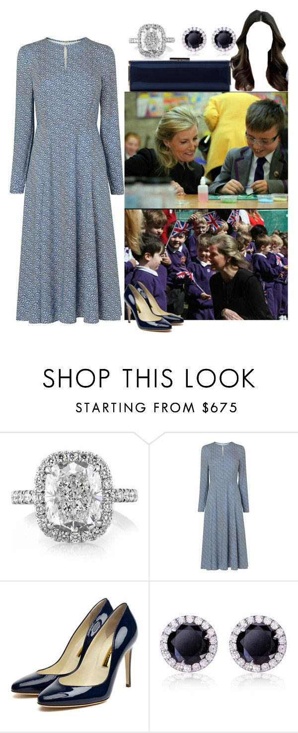 """HRH Princess Rhea visiting grade school"" by kingdomofmercia ❤ liked on Polyvore featuring L.K.Bennett, Rupert Sanderson, Kerr® and Kobelli"