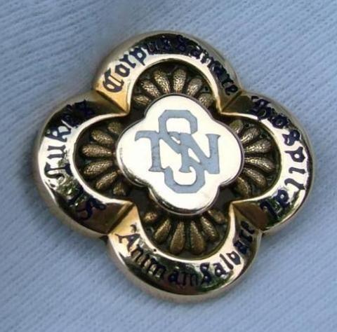 St. Luke's Hospital Training School for Nurses Graduation Pin. 1927.