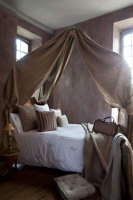I'd love to wake up with my Lv in this canopy bed