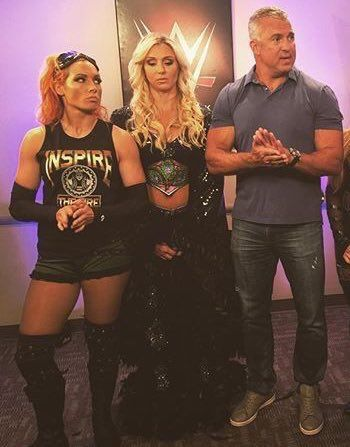 Becky, Charlotte, and Shane