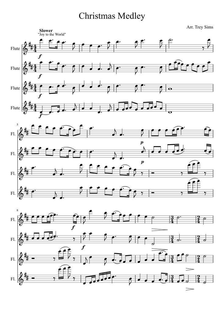 Print and download Christmas Medley - Arr. Trey Sims for Woodwind. Made by manflute2014.