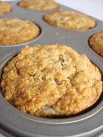Half Baked: Guilt (and gluten) free oatmeal banana muffins Add protein powder (about 1/4 c)