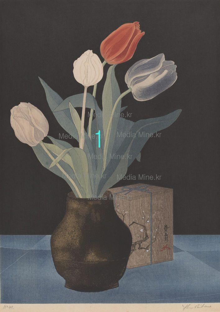 Retro Asian Fine Art Print- Flowers -(BUY 2 & GET 1 FREE!)-2-MM1709 #Handmade #Asian
