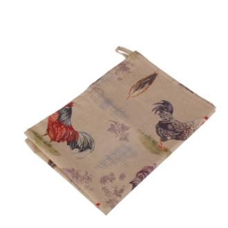 A handmade tea towel in Chicken cotton - perfect for your #country #kitchen