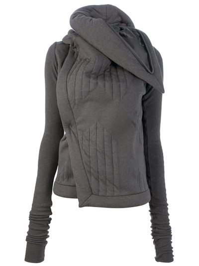 RICK OWENS LILIES - stand up collar cardigan..