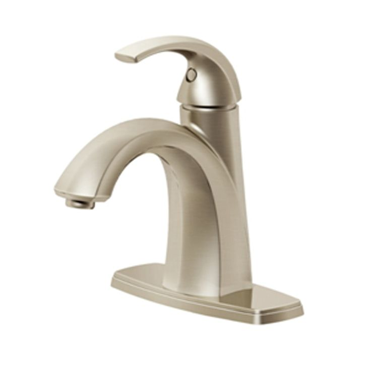 Shop Pfister Selia Brushed Nickel 1 Handle Single Hole WaterSense Bathroom  Sink Faucet (Drain
