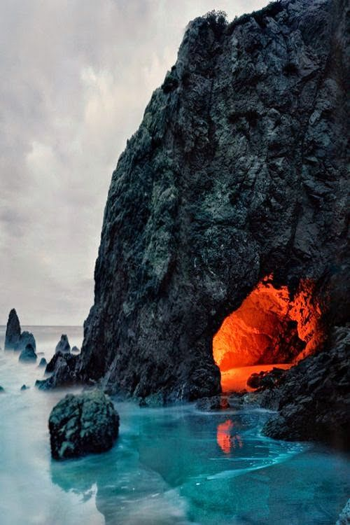 Matador Cave, Malibu, California. Honestly, I don't know what awaits me in that cave but I wanna find out.