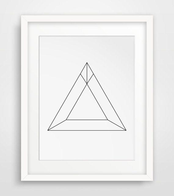 Minimalist Geometric Triangle Wall Art by MelindaWoodDesigns