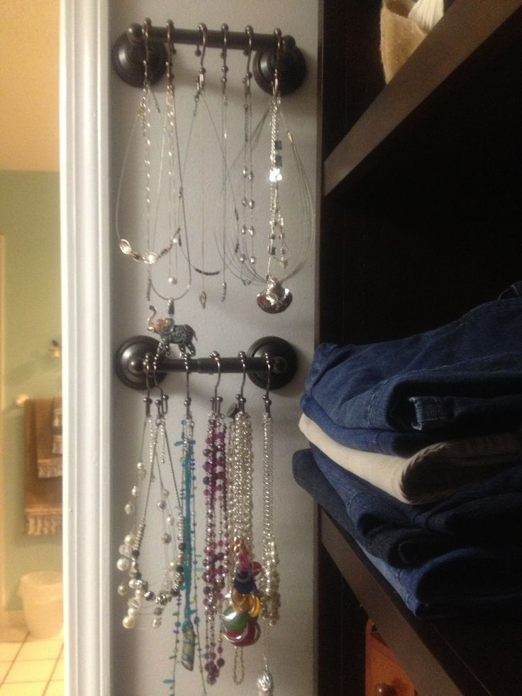 Necklace Organization I Adapted Another Pin To Fit My Small Space