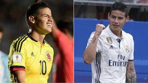 """James Rodríguez : """"Con Colombia juego más libre que con el Real Madrid http://www.sport.es/es/noticias/real-madrid/james-rodriguez-con-colombia-juego-mas-libre-que-con-real-madrid-5899157?utm_source=rss-noticias&utm_medium=feed&utm_campaign=real-madrid"""
