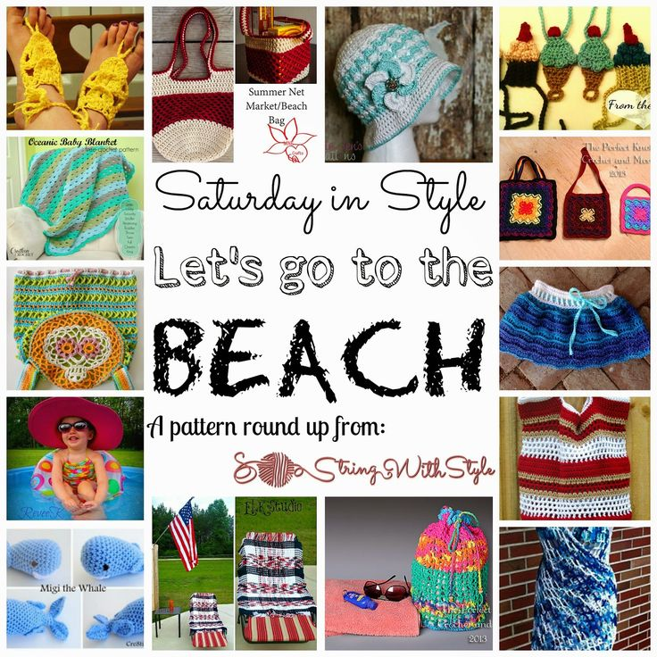 string with style saturday in style let 39 s go to the beach crochet pinterest the o. Black Bedroom Furniture Sets. Home Design Ideas
