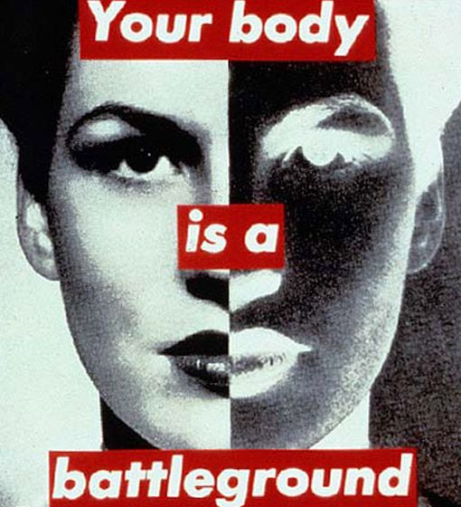 By my favorite artist ever Barbara Kruger. This piece is from the 80's STILL so relevant right now.