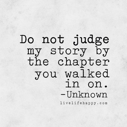 Keep it moving & don't judge