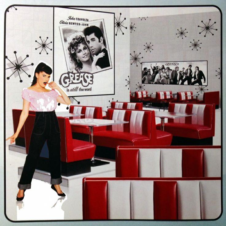 BELAIR retro diner booth 50ies / HW 120 Ruby RED | Fifties retro furniture + wallart +NEON | Design meubels, Retro verlichting & cadeaushop, Space Age new vintage