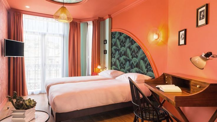 Botanical Wallpaper, Decorative Accents Abound in New French Boutique Hotel - Curbed