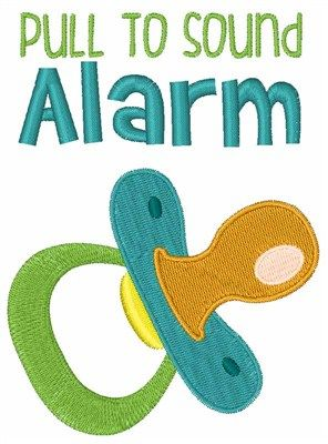 Pull For Alarm embroidery design