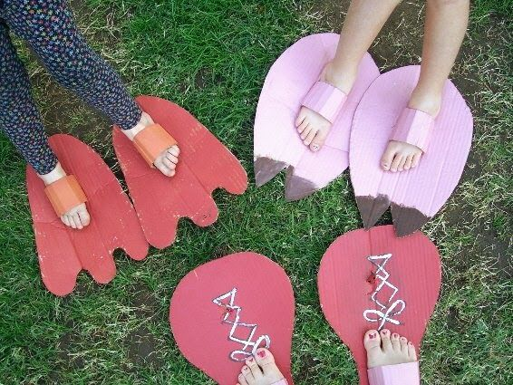 The girls & I had some fun today with some wacky feet. We learned how to make them from a book we recently borrowed from the library. I cha...