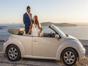 Beetle creme cabrio for the bridal car :)