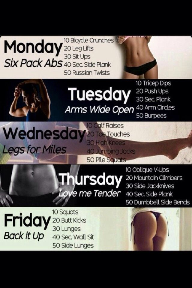 Monday - Friday Workout #Health #socceressentials