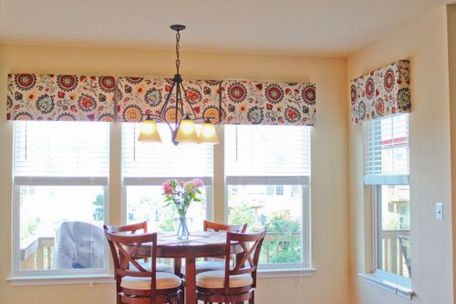 My kitchen windows: Before and After. Easy DIY pelmet box tutorial!