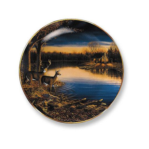 Wild Wings Tranquil Evening Deer Decorative Plate
