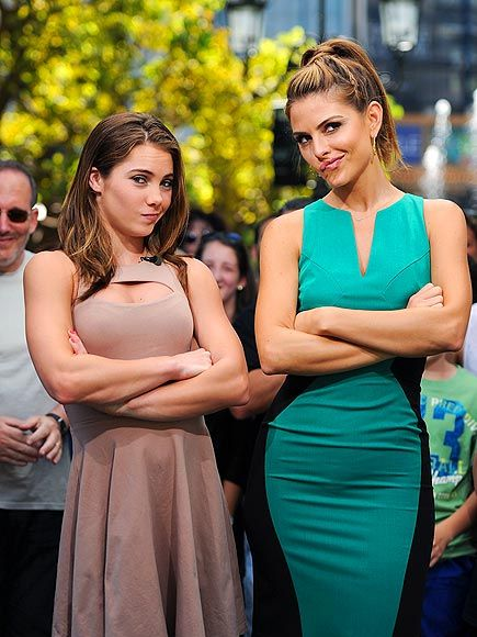 She's still not impressed! Olympic gymnast McKayla Maroney and Maria Menounos recreate Maroney's signature expression. http://www.people.com/people/gallery/0,,20624705,00.html#21205859