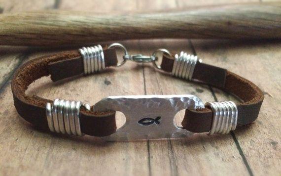 Christian Fish Bracelet Jesus Fish Bracelet by BraceletsbyLinda