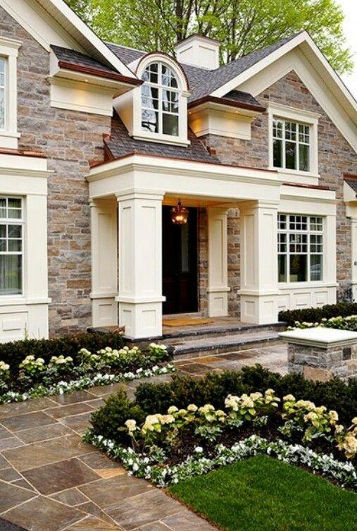 Pretty color scheme, the cream with the stone :)   Home   Decor