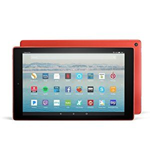 """Fire HD 10 Tablet.  10.1"""" 1080p HD display, 2 GB RAM, up to 10 hours battery life  Use Alexa hands-free mode to pause videos, play music, open apps, show sports scores, display the weather, and more  http://www.farmersmarketonline.com/a/computers.htm"""