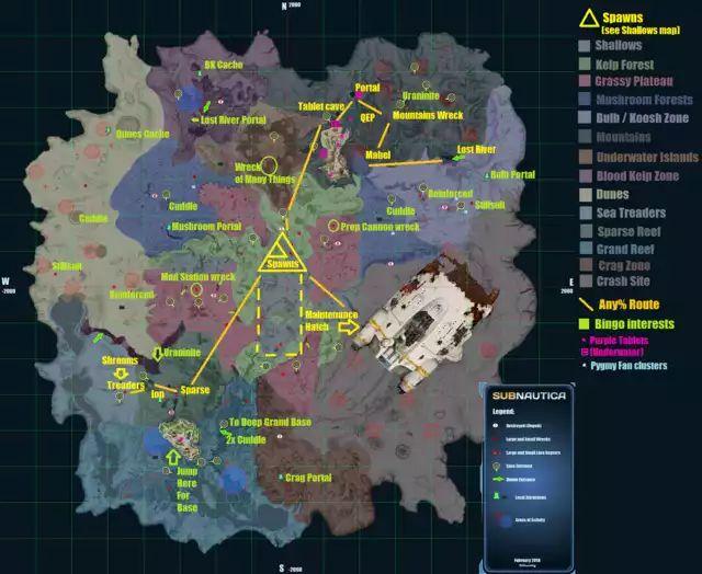 Subnautica Annotated Maps Imgur In 2021 Map Subnautica Concept Art Subnautica Game
