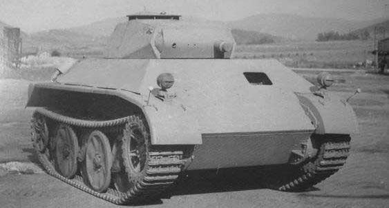 The German VK1602 Leopard Reconnaissance Tank