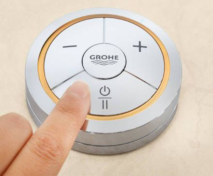 GROHE F-digital: Digital Controller, for simple, single-touch control in your contemporary bathroom #digital #faucet #tap http://www.grohe.co.uk/en_gb/bathroom-collection/mixer-taps-veris-f-digital.html