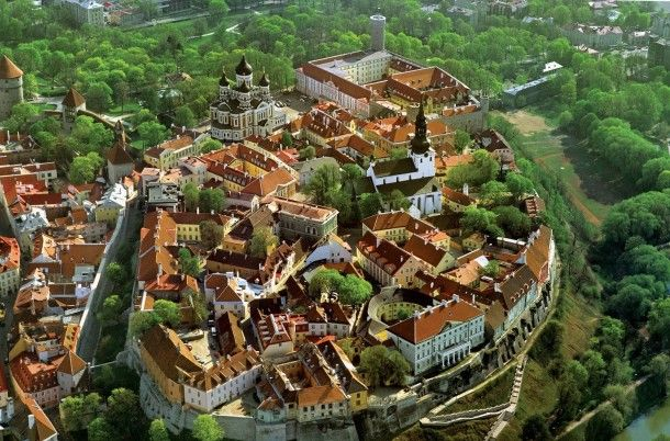 Old city of Talinn and the Toompea castle Estonia  #city #talinn #toompea #castle #estonia