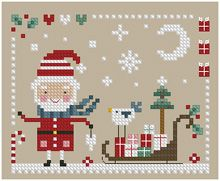 The Floss Box | Santa's Sleigh Cross Stitch