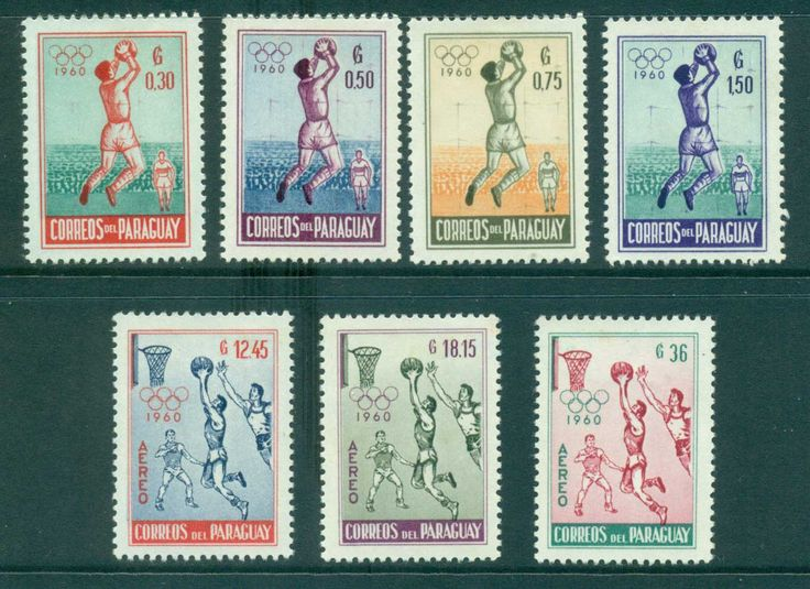 Paraguay 1960 Olympic games MLH lot35499